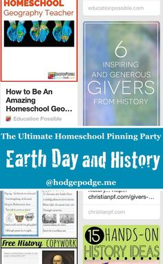 Earth Day and History at The Ultimate Homeschool Pinning Party