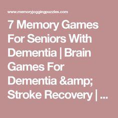 7 Memory Games For Seniors With Dementia | Brain Games For Dementia & Stroke Recovery | Matching Games, Memory Games For Elderly | Memory Jogging Puzzles #dementiacare #elderlycaredementia