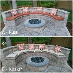 """Obtain great ideas on """"outdoor fire pit designs"""". They are actually accessible f… Obtain great ideas on """"outdoor fire pit designs"""". They are actually accessible for you on our site. Fire Pit Seating, Backyard Seating, Backyard Patio Designs, Diy Fire Pit, Fire Pit Backyard, Paver Fire Pit, Concrete Fire Pits, Concrete Patios, Fire Pit Landscaping"""