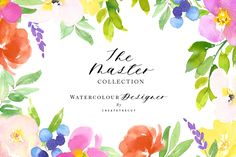 Master Collection - Watercolour Art. Perfect for Websites, blogs, invitations, digital projects. You can resell any product that you create using our images from this set.