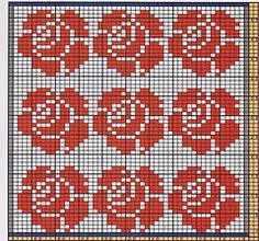 Ravelry: Potholder Rose Petals pattern by Regina Schoenfeldt Small Cross Stitch, Cross Stitch Letters, Cross Stitch Bird, Cross Stitch Flowers, Cross Stitch Charts, Cross Stitch Embroidery, Wedding Cross Stitch Patterns, Disney Cross Stitch Patterns, Modern Cross Stitch Patterns