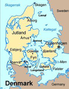 #Denmark Map