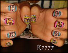 TRIBAL! by R7777 - Nail Art Gallery nailartgallery.nailsmag.com by Nails Magazine www.nailsmag.com #nailart