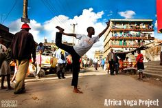 Africa Yoga Project: Offering free classes in prisons, slums, orphanages and community centers countrywide – they have already touched the lives of thousands. Read the article on www.seekretreat.com.