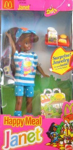 Barbie McDonald's Happy Meal JANET Doll AA w Surprise Jewelry (1993) by Mattel, http://www.amazon.com/dp/B000VA0HJ8/ref=cm_sw_r_pi_dp_BBEZrb1C4DAE4