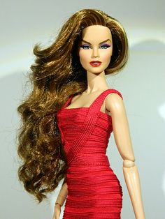 This barbie has a bandage dress! .