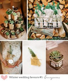 Winter wedding favors #brideside #winter #wedding #favors
