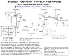 Schematic - Groovewatt Tube (Valve) RIAA Phono Preamp