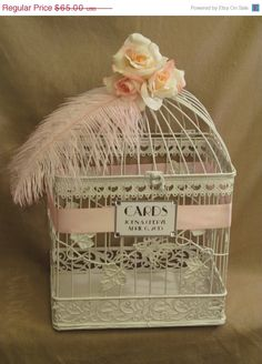On Sale Wedding Card Box / Ostrich Feather / by SouthburyTreasures, $61.75