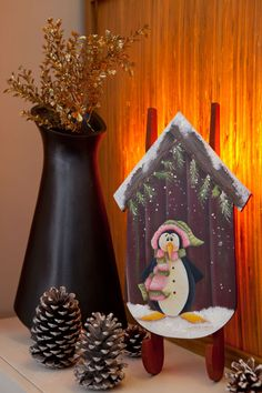 Trenó decorativo de Natal - DIY, Christmas, Craft