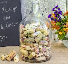 Wedding Wishes in a Bottle Guest Book - Personalized