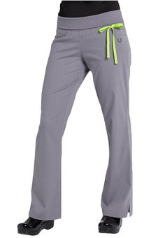 Urbane Sport knit roll-top yoga STRETCH scrub pants. Main Image