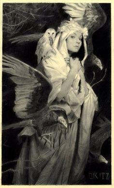 Karla Ortiz, Potnia Theron, The Villain, Fractal Art, Art Inspo, Amazing Art, Art Reference, Illustrators, Character Art