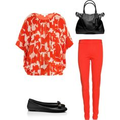 """""""Poppy Red"""" by fabafter40 on Polyvore"""