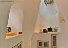 mesaria, santorini, private villa, traditional kitchen,architectural sculpture
