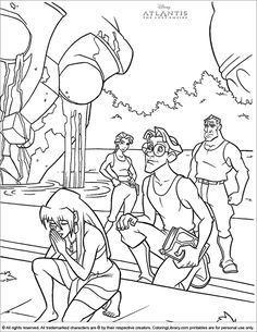 32 Best Coloring Pages/LineArt-Disney-Atlantis: The Lost
