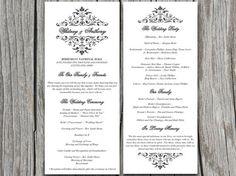 Vintage Bouquet Wedding Program Microsoft by PaintTheDayDesigns, $10.00