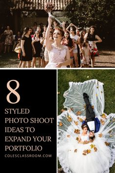 If you want to develop partnerships with other vendors, setting up styled shoots is a great way to make connections. Here are 8 photoshoots you can consider doing. Wedding Photography Tips, Photography Marketing, Photography Basics, Photography Projects, Photography Portfolio, Creative Photography, Street Photography, Landscape Photography, Portrait Photography