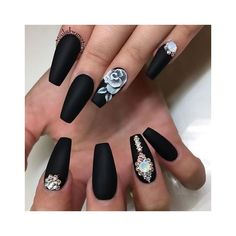 50 Coffin Nail Art Ideas ❤ liked on Polyvore featuring beauty products and nail care