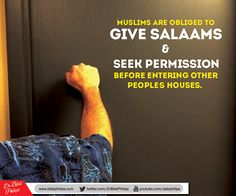 Muslims are obliged to give salaams....