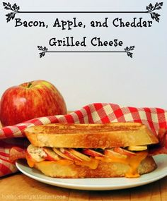 ... Kozy Kitchen: Bacon, Apple, and Cheddar Grilled Cheese #sandwich