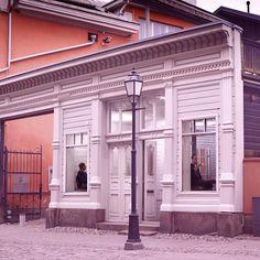 Tiirikkala Restaurant Bar, Finland, Restaurants, Bakery, Mansions, House Styles, Space, Pink, Design