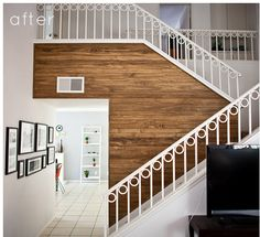 never get tired of a wood planks as wall treatment