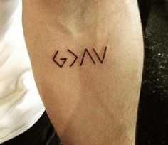 Image result for god is greater than the ups and downs tattoo