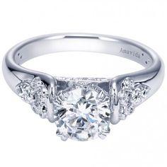 18k White Gold Diamond Engagement Ring Setting ER9145W83JJ