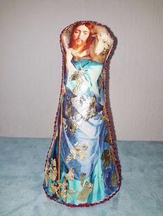 shepherd, christmas crib,  nativity scene, Jesus Marie Joseph , Art dolls Soft doll Cloth doll Fabric doll, Religious icon antique style