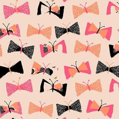 Bow butterfly print
