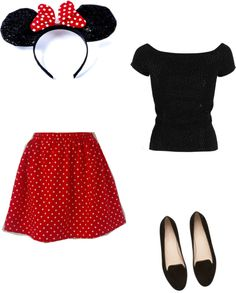 """""""Minnie Mouse"""" by mayahartley on Polyvore"""