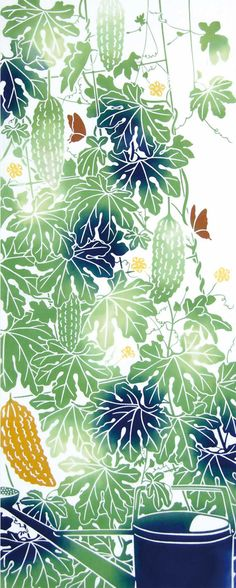 Japanese Tenugui Towel Cotton Fabric Summer by JapanLovelyCrafts