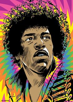 Jimi Hendrix Pop Art Digital Art