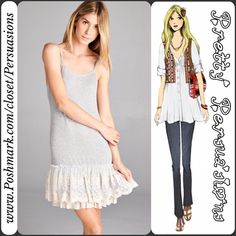 NWT Gray & Cream Lace Ruffle Hem Dress Extender Description coming soon. Item now available Pretty Persuasions Dresses