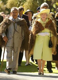 The Queen visiting New Zealand 2002