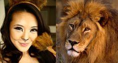 Resultado de imagem para tribal lion makeup