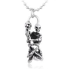 Punk Brother Skulls Men's Titanium Pendant