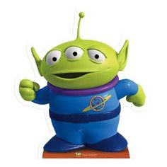 LITTLE GREEN MAN cute alien Toy Story LIFESIZE CARDBOARD CUTOUT STANDEE STANDUP | eBay