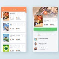 Rotten Tomatoes App Concept by Ghani Pradita