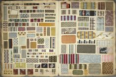 Page 14/15 from a French cloth sample book, 1782-1805 (cloth on paper)