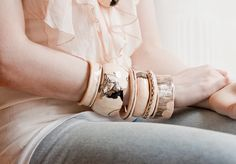 goldenink jewelry Stacked Bangles