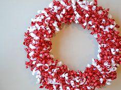 Valentine Wreath Ideas - Make Curled Ribbon