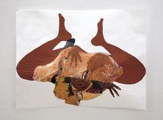 "Rebirth (Phoenix) Oil and acrylic on paper  50"" x 38""  2014, Tschabalala Self http://tschabalalaself.com/ http://tschabalala.tumblr.com/ tschabalala@gmail.com"