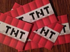 """Minecraft TNT Labels plus TNT Twizzlers Instructions PDF, Instant Download These favors are the """"bomb"""", as my son & his friends say :)  A HUGE HIT AT PARTIES!!! Minecraft TNT Birthday Party Favors!"""
