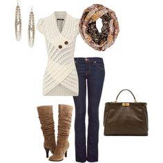 fall outfit - just add a leather jacket : )