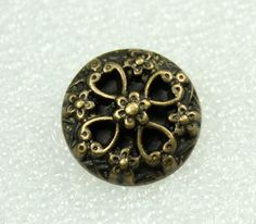 Wholesale - Metal Buttons - Deep Carved Flower Thick Copper Buttons.  0.71 inch, 50 pcs by Lyanwood, $23.99