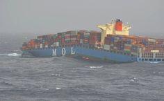 Rotura por quebranto del portacontenedores MV MOL Comfort a 200 millas de la costa de Yemen (12'30″N 60′E)