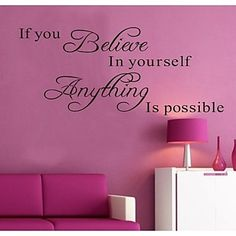 Wall Stickers Wall Decals,  English Words & Quotes PVC Wall Stickers – USD $ 7.99