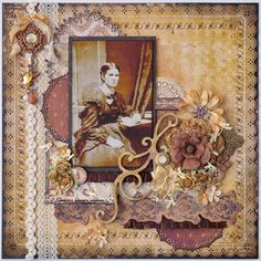 Bo Bunny's Weekend Market and Time Piece collections. My Funky Scrapbook Blog: Isabella